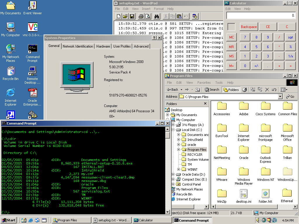 Past and current operating systems